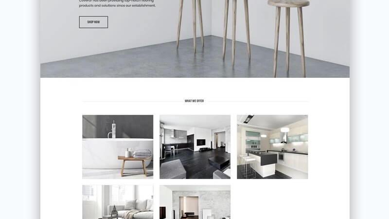 Coverur – Flooring Company Multipurpose Minimal Elementor